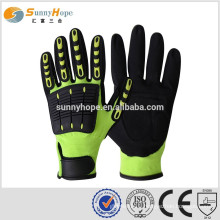SUNNYHOPE direct buy China safety gloves TPR on back