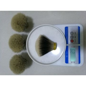 Fan-shaped 2band Badger Hair Shaving Brush Knot