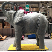 Elefante de cobre amarillo antiguo de los animales del metal grande en venta