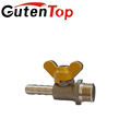 Gutentop Male Three Way Brass Gas Valve For Gas Use