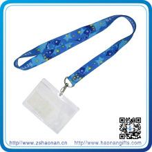 Lanière de détenteur de carte d'identification de polyester d'affaires de mode