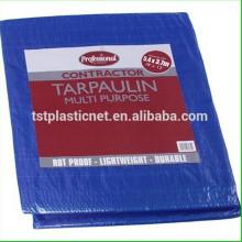 Waterproof orange blue polyethylene tarpaulin /PE tarps fabric sheet