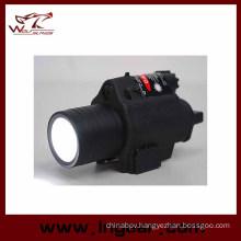 M6 6V 180lm Qd LED Tactical Flashlight & Red Laser Sight White Light
