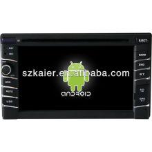 Android System lecteur DVD de voiture pour Universal 1 avec GPS, Bluetooth, 3G, iPod, jeux, double zone, contrôle du volant