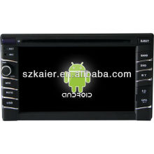 Reprodutor de DVD do carro do sistema de Android para o universal 1 com GPS, Bluetooth, 3G, iPod, jogos, zona dupla, controle de volante