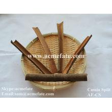 Ingredientes de los alimentos cassia split canela