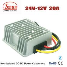 Conversores de energia do carro da CC para o conversor 24V-12V 20A da CC