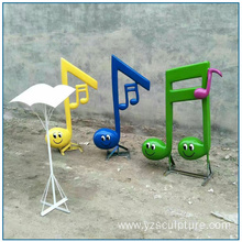 Fiberglass Dancing Musical Note Sculpture