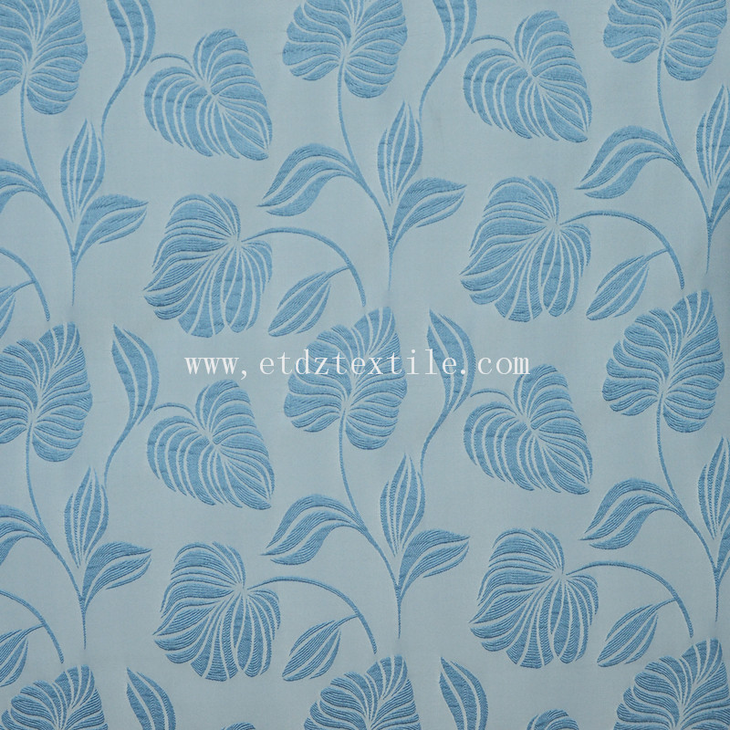 Modern Classic Soft Textile Window Curtain Fabric WZQ201 Blue