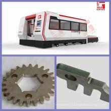 1000W aço inoxidável & aço de carbono & corte de alumínio do laser com proteção cheia e tabela de trabalho da troca com certificação do CE