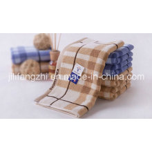 100 % Baumwolle Jacquard Handtuch mit Satin Handtücher aus Baumwolle