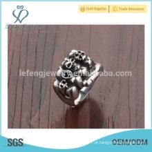 Projeto do anel do crânio, projete seu próprio anel, anéis do vintage