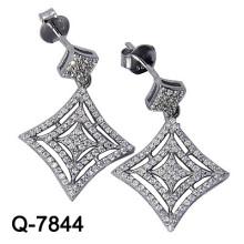 Серебряные Ювелирные Изделия Мотаться Серьги Плакировкой Родия (Г-7844)