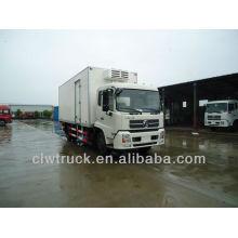 Fábrica de suministros Dongfeng camión congelador, 8-12 toneladas de congelador Van camión en Marruecos