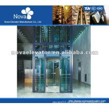 1.0m / s elevador panorámico de 800kg