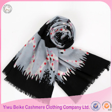 Luxury fashion new style polka dot printed scarf for winter