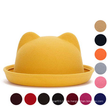 Dame Fashion Cute Plain gestrickten Winter Warm Bucket Hat (YKY3234)