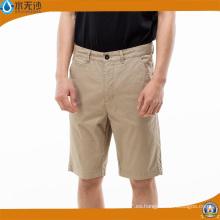Pantalones cortos de hombre de algodón casual de la moda de los hombres Pantalones cortos de cargo corto