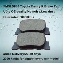OE qualidade carro traseiro Toyota camry freio pad D835