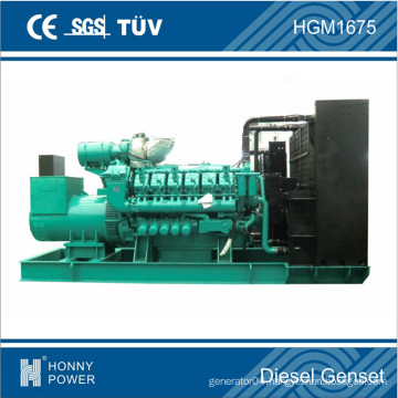 Googol 12 Cylinder Engine 1200kw 1500kVA Diesel Generator Manufacturer Price