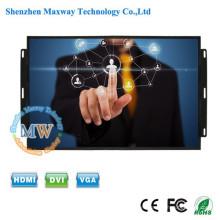 Pantalla ancha de 12 v DC con pantalla abierta Pantalla táctil de 17 pulgadas con botones de menú