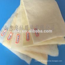Ouate 100% fibre de laine mérinos thermique / ouate textile / rembourrage