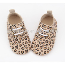Hot selling kids casual shoes Leopard grain baby leather shoes
