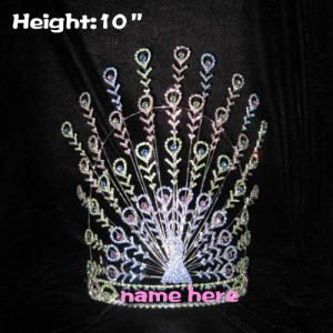10in Height Unique Customed Peacock Pageant Crowns