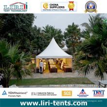 Pagoden-Zelt mit weißen PVC-Dachabdeckungen und Aluminiumrahmen