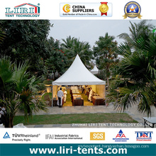 Pagoda Tent with White PVC Roof Covers and Aluminum Frames