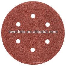 Disque de papier de ponçage d'oxyde d'aluminium de 115mm pour le meulage ou le polissage
