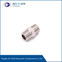 Air-Fluid  Male Pipe Thread Brass Hex Nipple