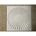 Supply air swirl diffuser, air conditioning swirl diffuser