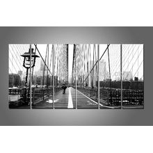 6 Panels London Bridge Picture Print, Schwarz-Weiß-Drucke, Wall Art Decor