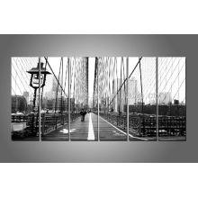 6 panneaux London Bridge Picture Print, imprimés noir et blanc, décor d'art mural