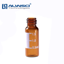 2ml 8-425 Screw thread glass Vial Amber with write-on spot for HPLC autosampler