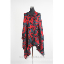 Fashion ladies printed cashmere poncho