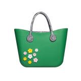 laydies large EVA tote handbags with Pu handle
