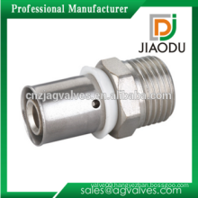 Brass Male Straight Coupling Press Fitting For Pex-Al-Pex Pipe