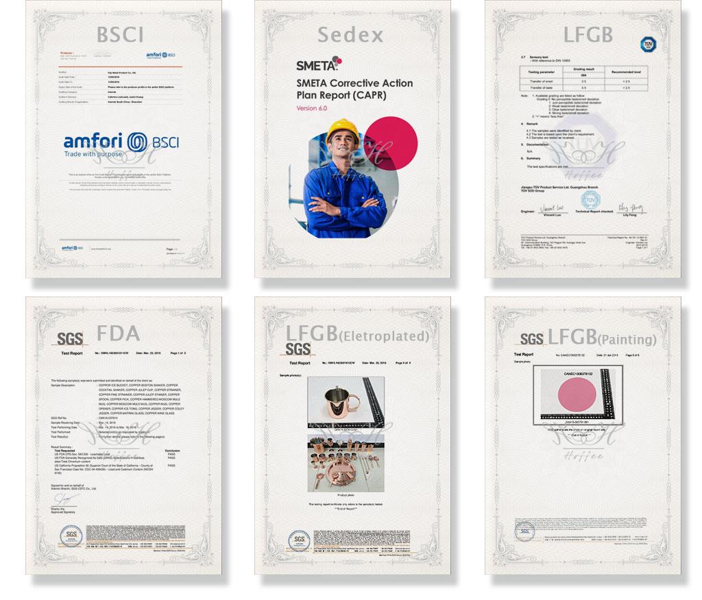 Certificate Barware