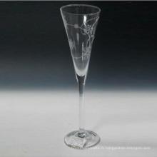 Flûte à champagne soufflée avec impression
