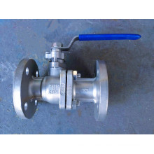 Válvula de bola del flotador del reborde industrial del acero inoxidable 2PC (Q41)