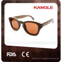lunettes de soleil en bois vintage gentleman