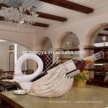Cadeau pour les amoureux Décoration romantique Décoration à la maison luxe Haute qualité Swan Wine Rack