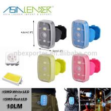 15 heures d'éclairage continu Alimenté par 3.7V 2.5mah Li-polymère Batterie en plastique LED Light USB