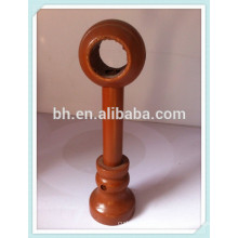 Extendable Wooden Round Curtain Rod End Brackets