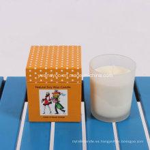 Vela de regalo de cedro y dulce de naranja