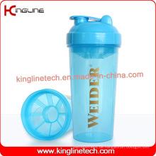 Hochwertige BPA freie Protein Shaker Cup Flasche Shaker Flasche smart Shaker Fitness Flasche Fitnessstudio Wasser Flasche Fitnessstudio Shaker benutzerdefinierte Sport Flasche benutzerdefinierte Protein Shaker