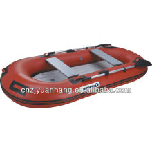 Inflatable rubber raft boat