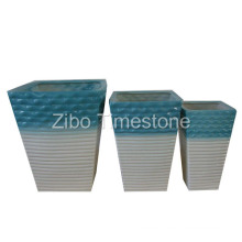 Ceramic Flower Pot - Color Glazed (24012)